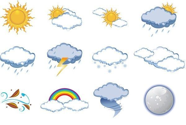soleil - nuages - clipart - weather clipart -