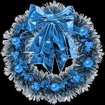 decoration de noel bleu - inspiration du blog