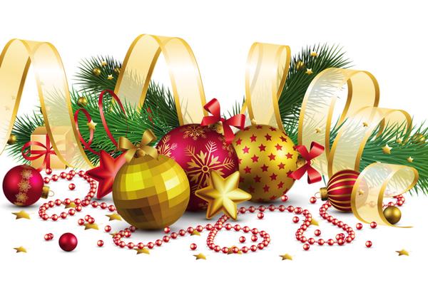 Boîte De Cadeau Le Jour De Noël Clip Art: Decorations De Noel