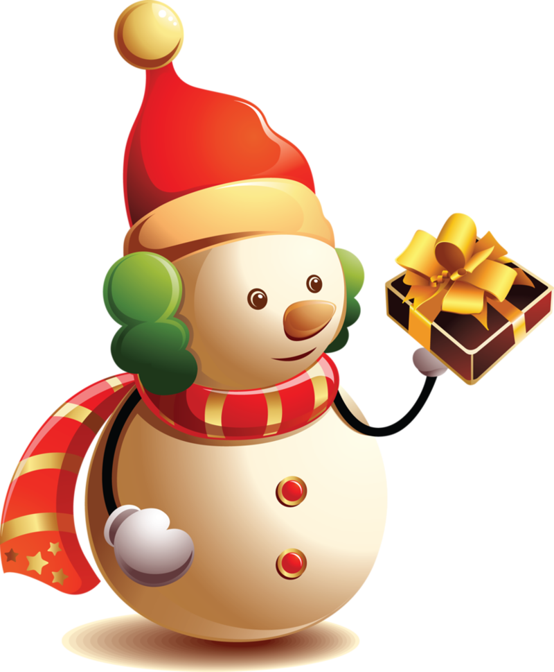 F te noel bonhommes de neige bonhomme cadeaux - Clipart bonhomme de neige ...