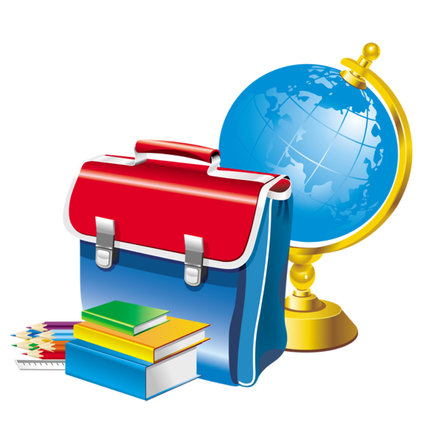 founitures scolaires - cartable - globe terrestre - crayons