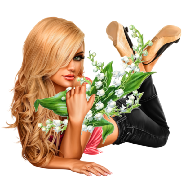 Tube Femme Muguet Illustratie Lily Of The Valley Png