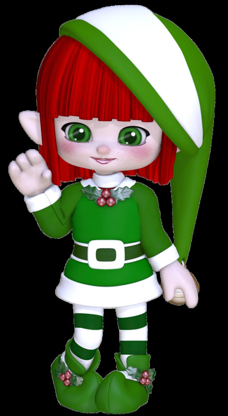 Christmas Elf Clipart | Kavalabeauty