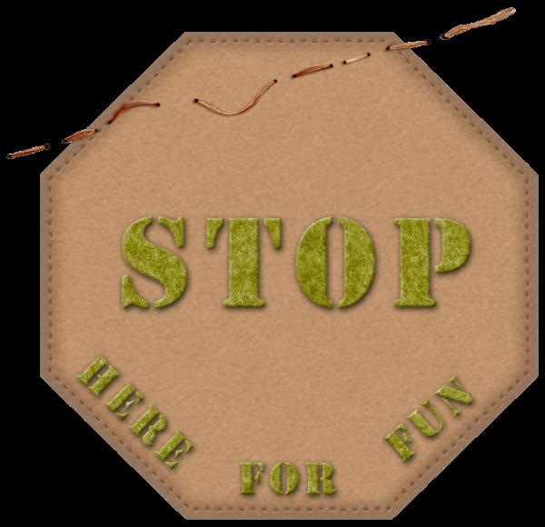 bouton stop pour scrapbooking - signe stop