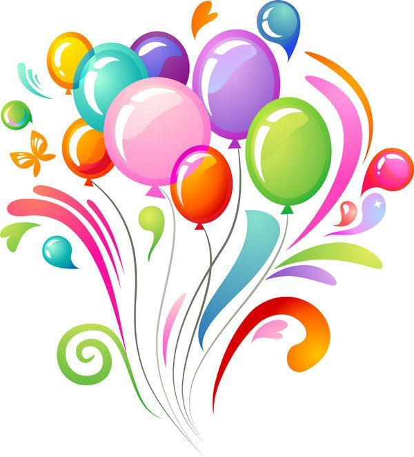 balons multicolores - anniversaire - balloons - birthday