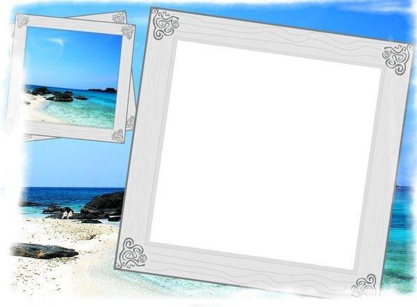 ocean sea frame cadre frame mer cluster. Black Bedroom Furniture Sets. Home Design Ideas