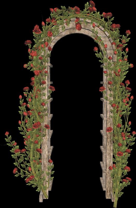 Deco pour créa photofiltre - scrapbooking - pergola fleurie