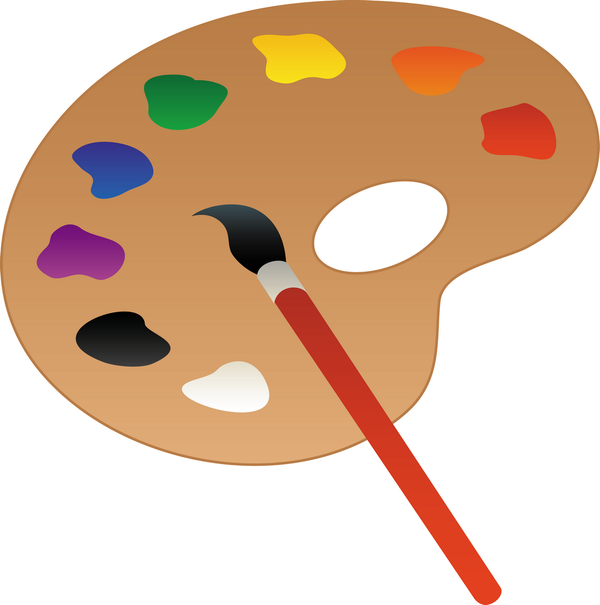 Peindre Une Palette Of Palette De Peintures Pinceau Art Palette