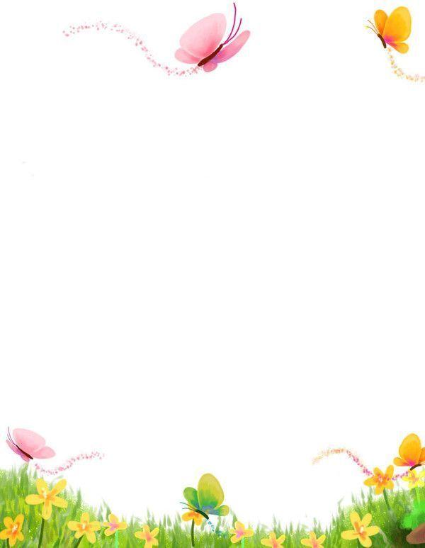 papier à lettre fleuri