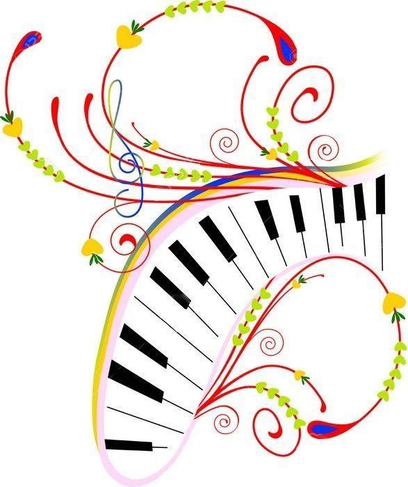 Beliebt dessin piano touches musique instrument ZO43