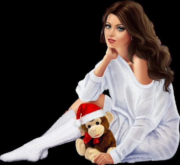 femmes noel - christmas girls - png