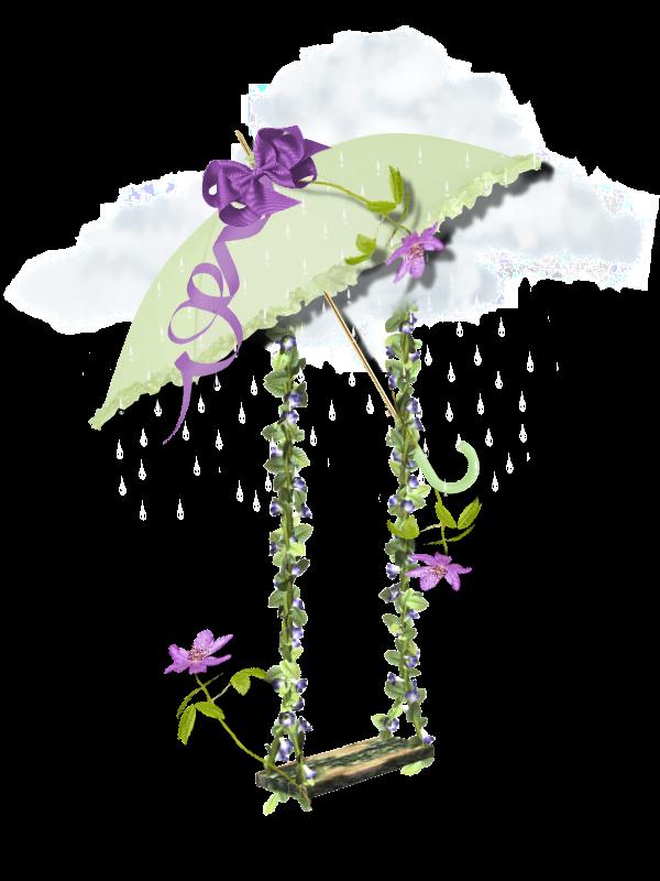 decoration scrapbooking- balançoire - fleurs