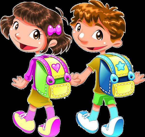 cute kids - adorables écoliers sur le chemin de l'école
