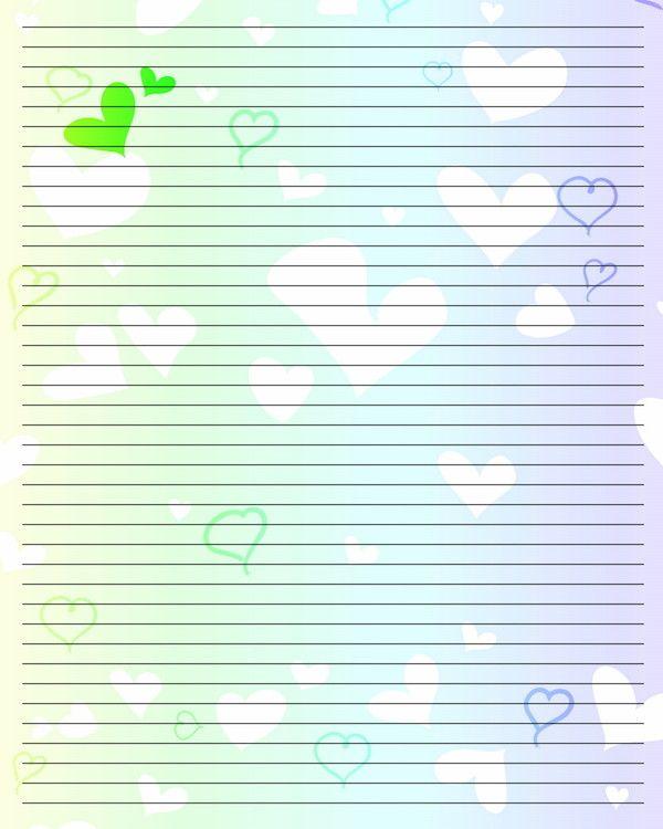 Préférence a lettre à imprimer - fond pastel et coeurs VV99