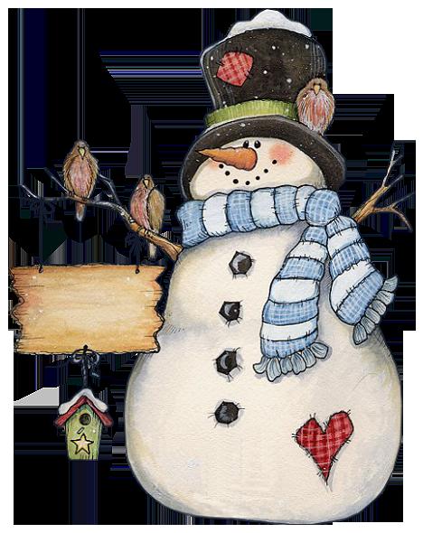 Image bonhomme de neige - hiver - neige - clipart - hiver clipart