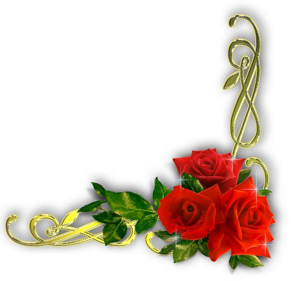 Fleurs d corations scrapbooking coins encadrements - Dessin de fleur en couleur ...
