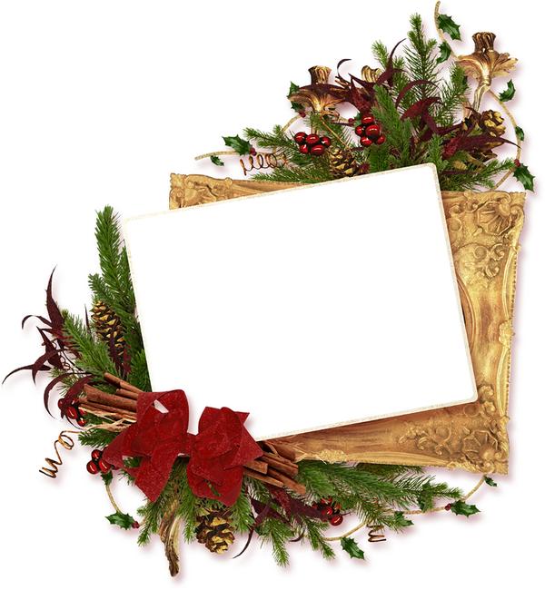 Noel cadre noel encadrement noel poinsettia noel houx - Decoration de noel avec du houx ...