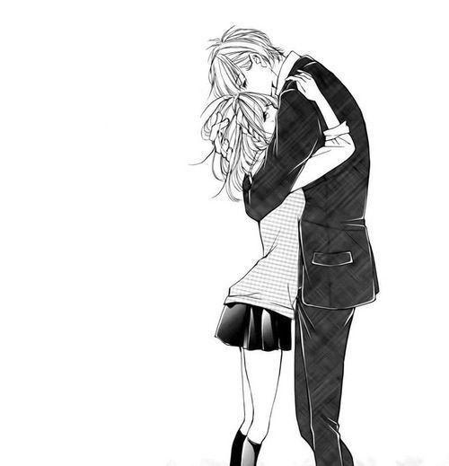 Couple saint valentin amoureux personnage clipart - Manga couple triste ...