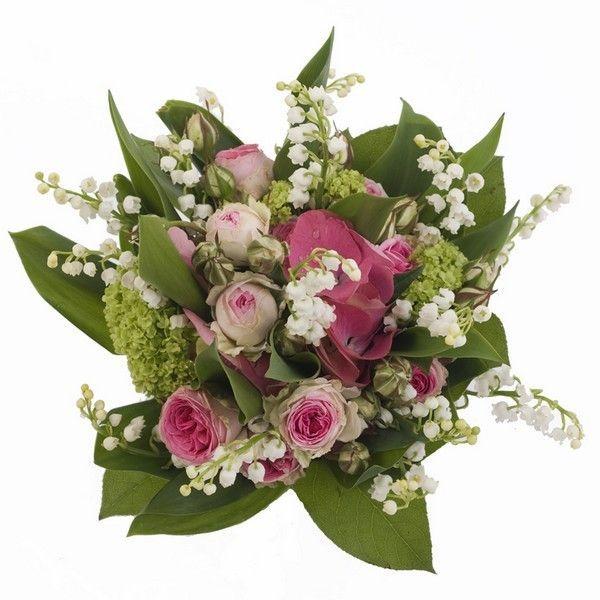 Bouquet muguet premier mai roses fleurs clochettes for Bouquet de fleurs muguet