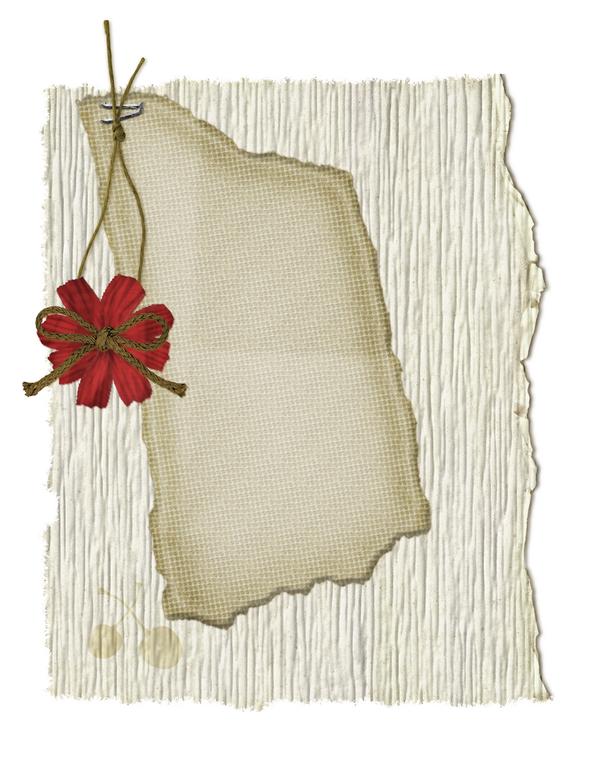 fond papier journal  - fleur rouge