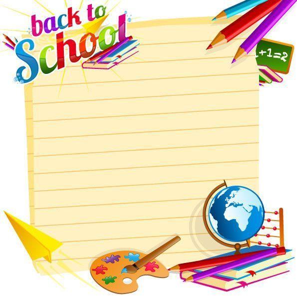 clipart rentrée scolaire - fourniture scolaire -