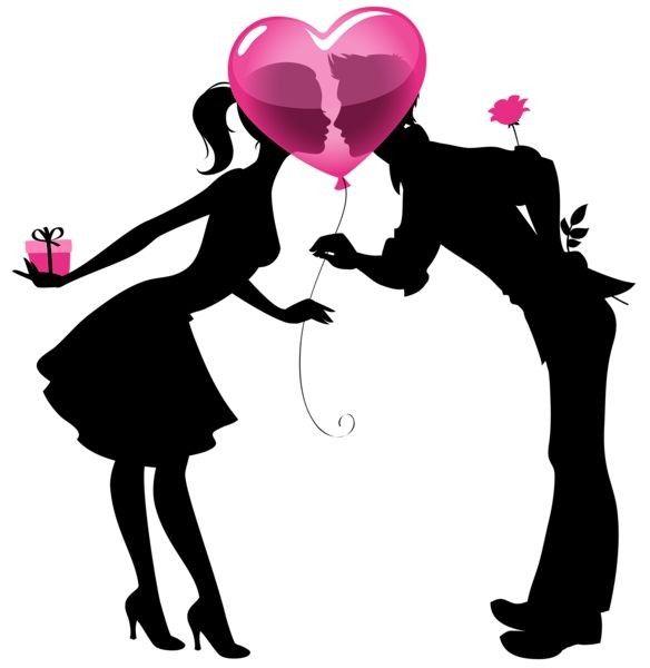 Couple amoureux pour la saint valentin ballon illustration - Image saint valentin romantique ...