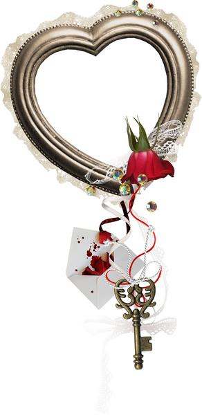 saint valentin cadre coeur encadrement coeur cl amour. Black Bedroom Furniture Sets. Home Design Ideas