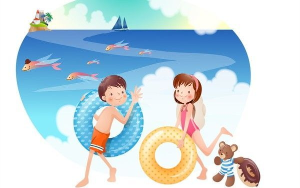 cute kids - holidays vacations - summer -