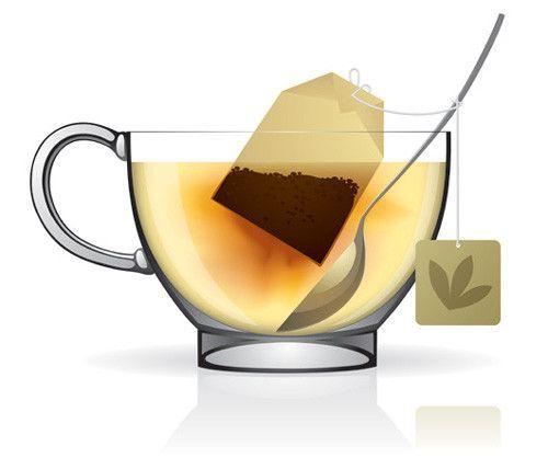 tasse de thé - image tube tasse de thé - cuillère