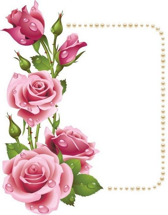 Fleurs printemps cadre roses encadrement roses d cos - Deco printempsidees avec fleurs et motif floral ...