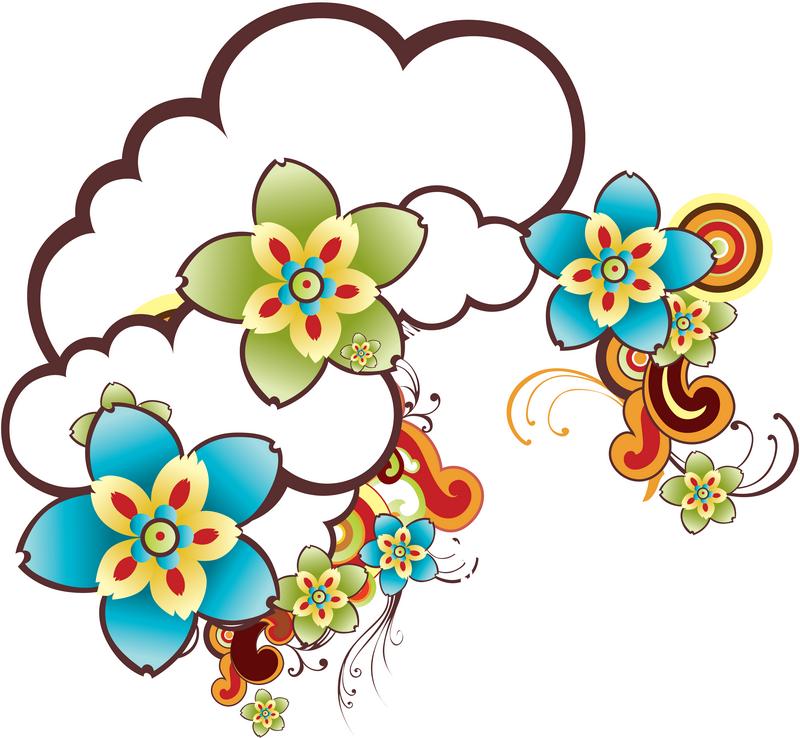 Fleurs background fleurs printemps dessin fleurs d cos - Dessin fleurs printemps ...