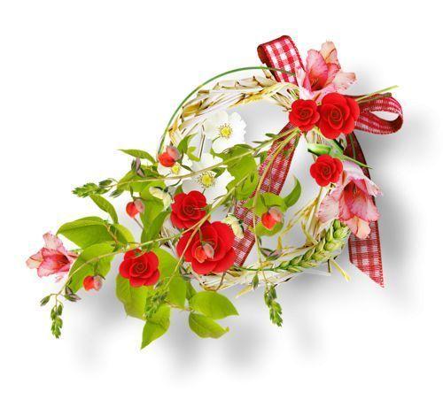 Decorations pour creas toutes decos - Fleurs roses de printemps ...