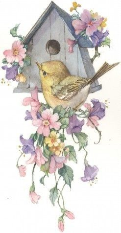 Vintage bird house paintings remarkable answer