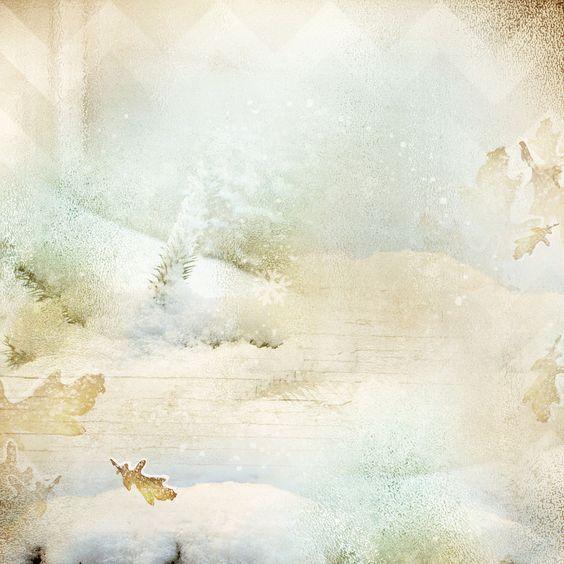 Hiver Neige Paysages Feeriques Papier Paper Nature Decor