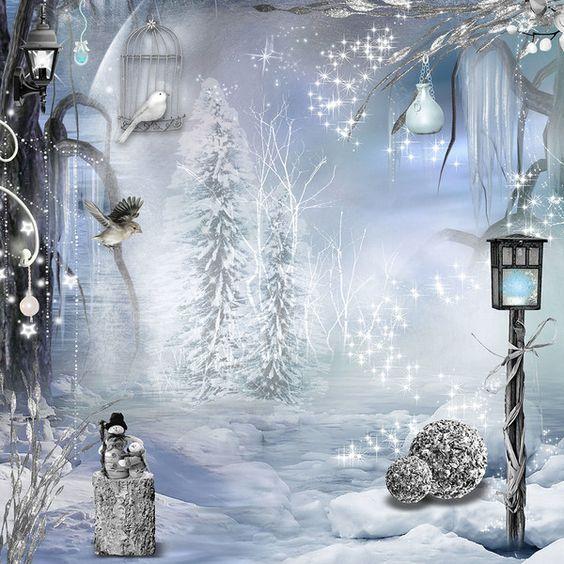 NOËL 2018 (Images, photos, paysages de fête) Papier-neige-hiver-flocons-paysage